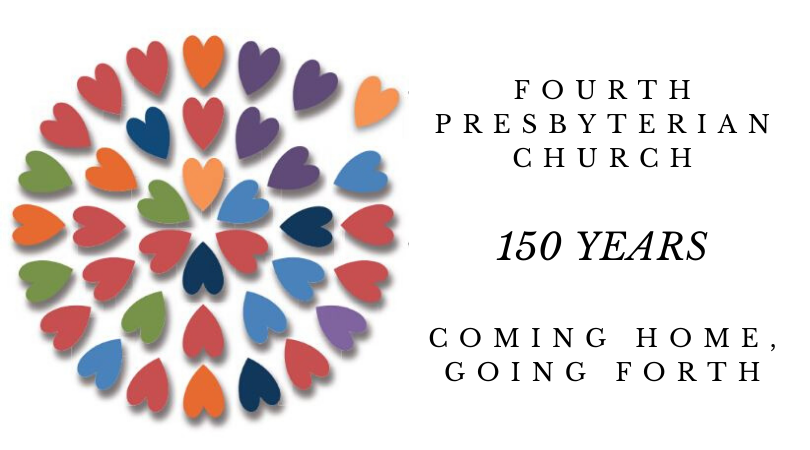 Fourth Presbyterian Church 150th Anniversary Fourth Fest Logo